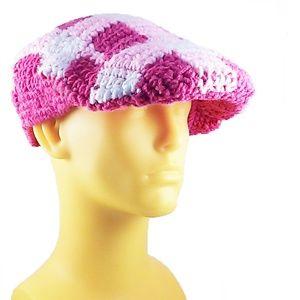 debf3da9d94c8 Accessories - Pink Plaid Crochet Kangol (Crochango)